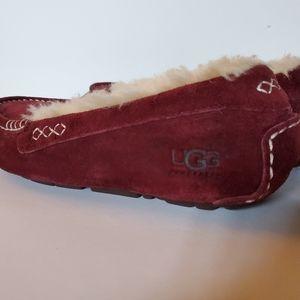 UGG Shoes - UGG AUSTRALIA BURGANDY SUEDE MOCCASINS